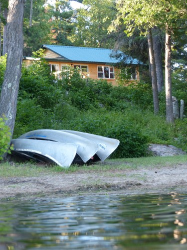 The cabin sits just above White Iron Lake, where canoes and other boats are available for your use.